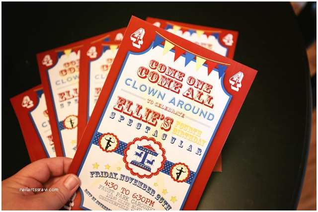 Carnival Birthday Party Invitations How To Nest For LessTM