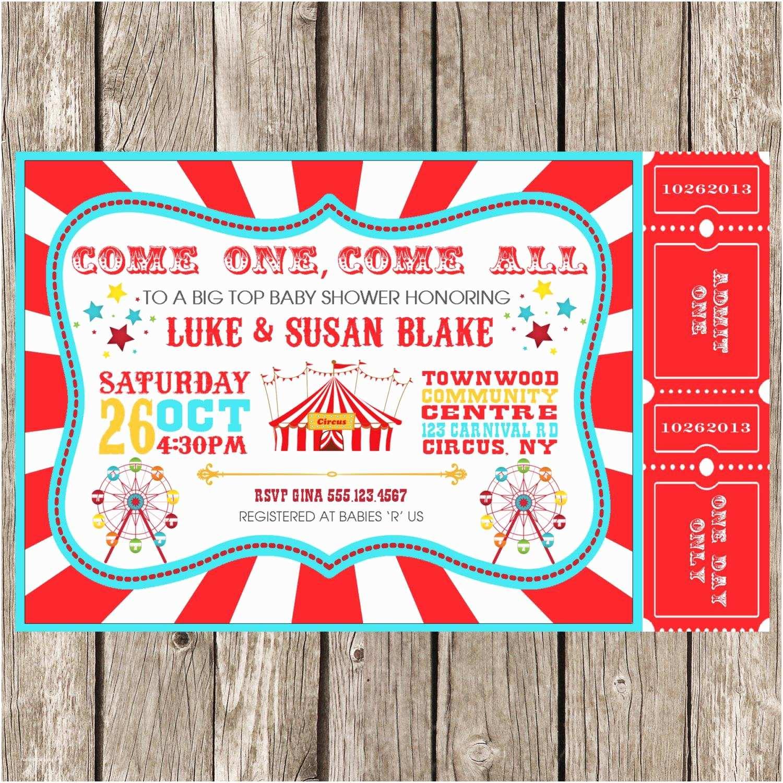 Carnival Birthday Party Invitations Carnival Party Invitations