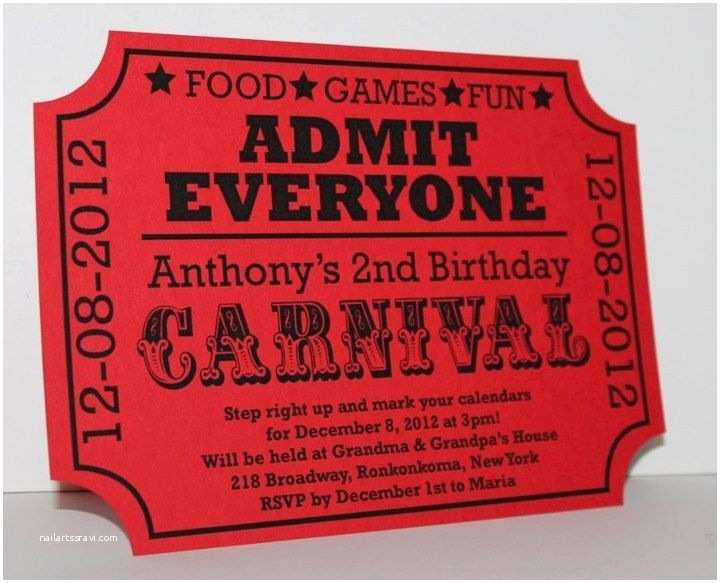 Carnival Party Invitations 25 Best Ideas About Carnival Tickets On Pinterest