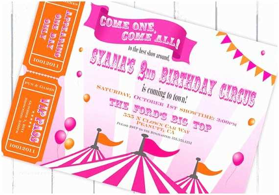 Carnival Party Invitations A Carnival Circus themed Birthday Party