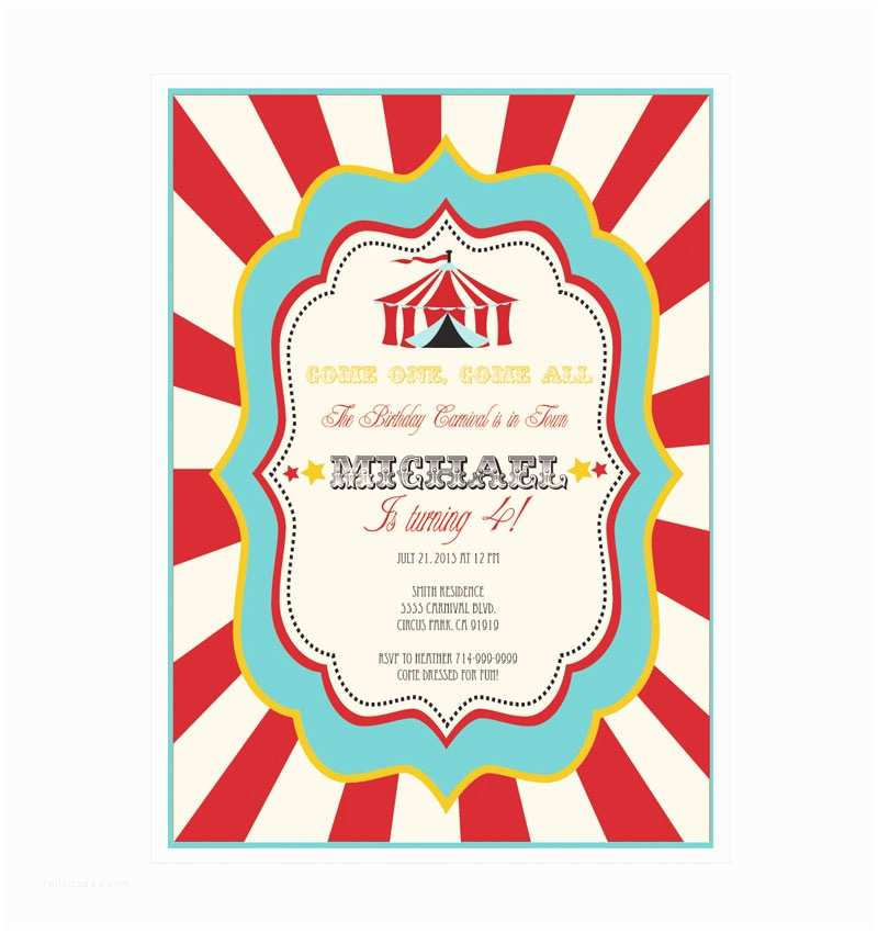 Carnival Party Invitations Carnival Party Invitations – Gangcraft