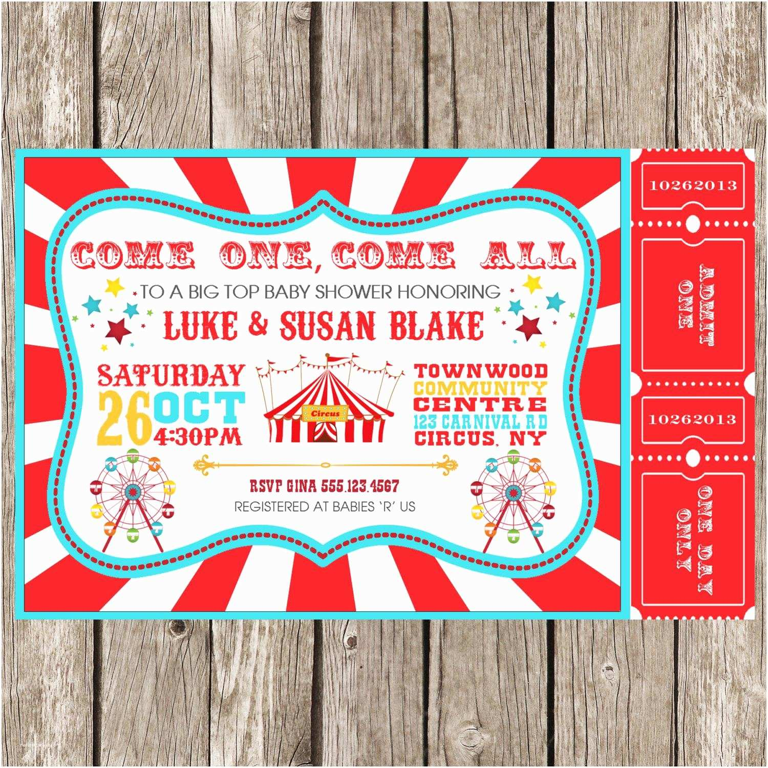 Carnival Party Invitations Carnival Party Invitations