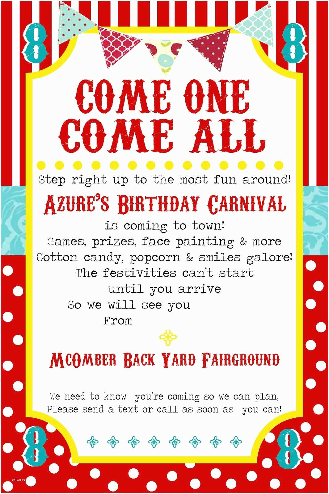 Carnival Party Invitations Free Printable Carnival Party Invitation Template