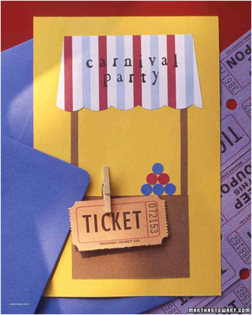 Carnival Party Invitations How to Throw A Kids Carnival Party