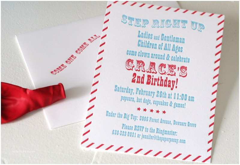 Carnival Party Invitations Red Aqua Carnival Birthday Party Invitations for Grace
