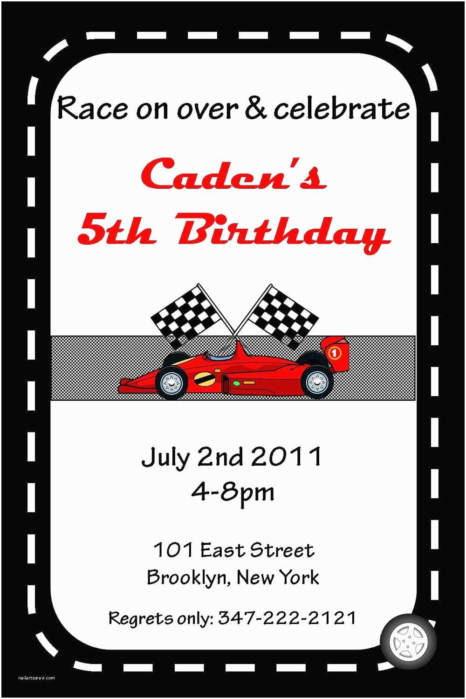 S Birthday Invitations 5 Best Of Race  Invitations Printable Race