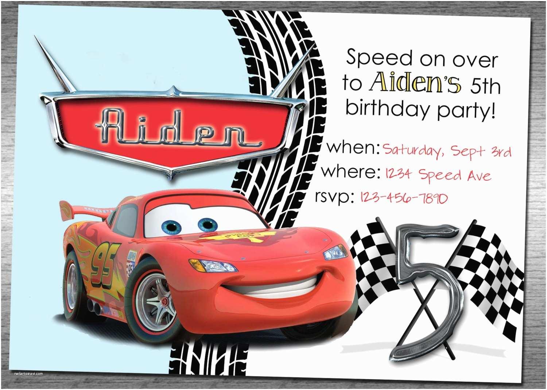 Cars Birthday Invitations Cars Birthday Invitation
