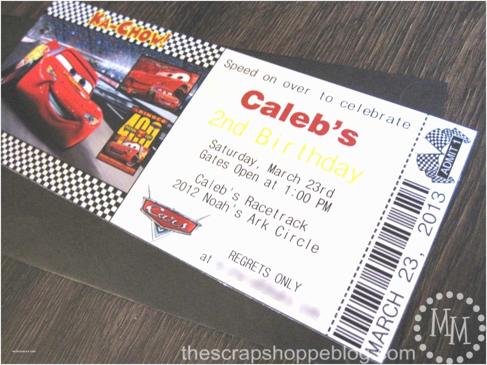 Cars Birthday Invitations Cars Birthday Invitation the Scrap Shoppe
