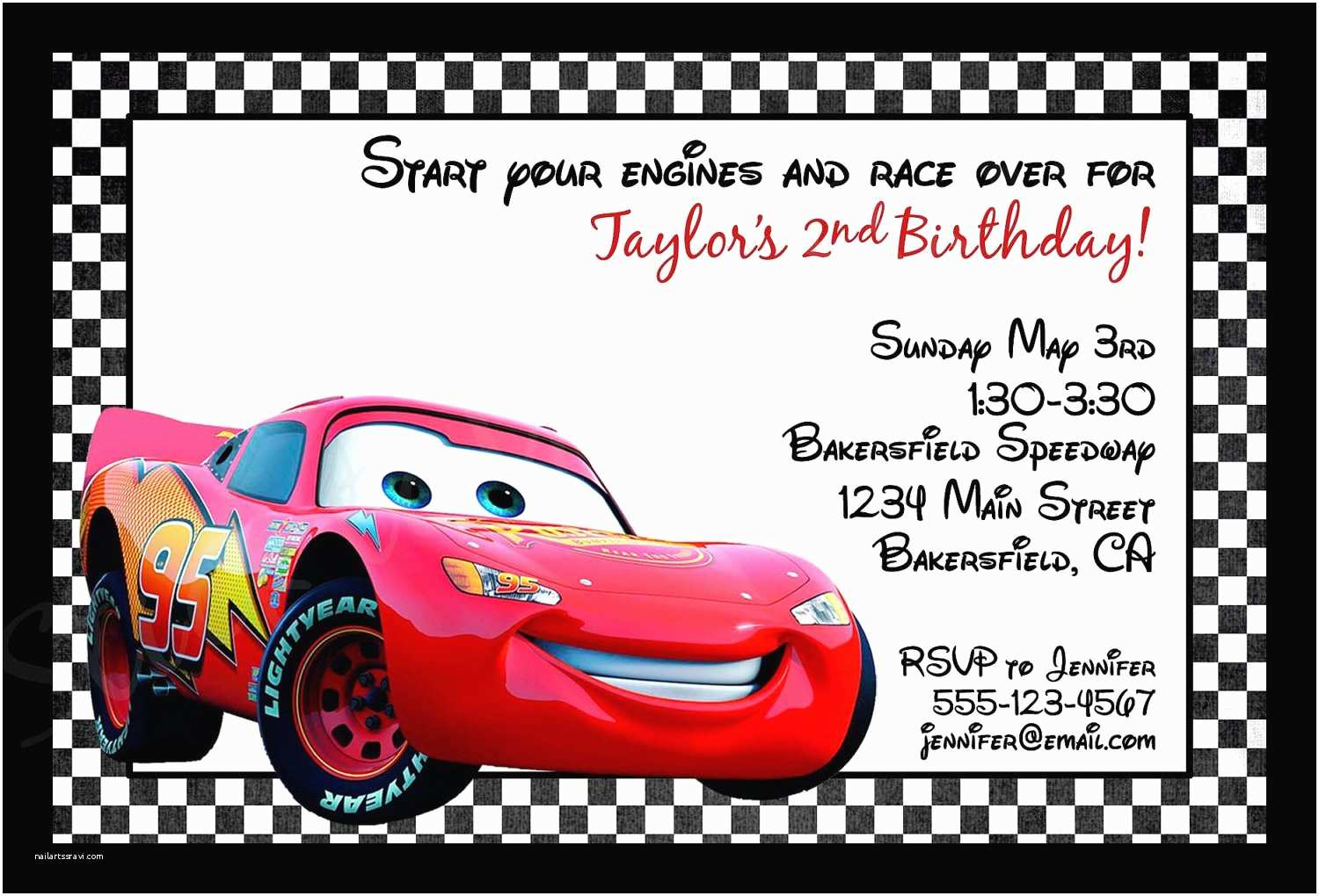 Cars Birthday Invitations Printable
