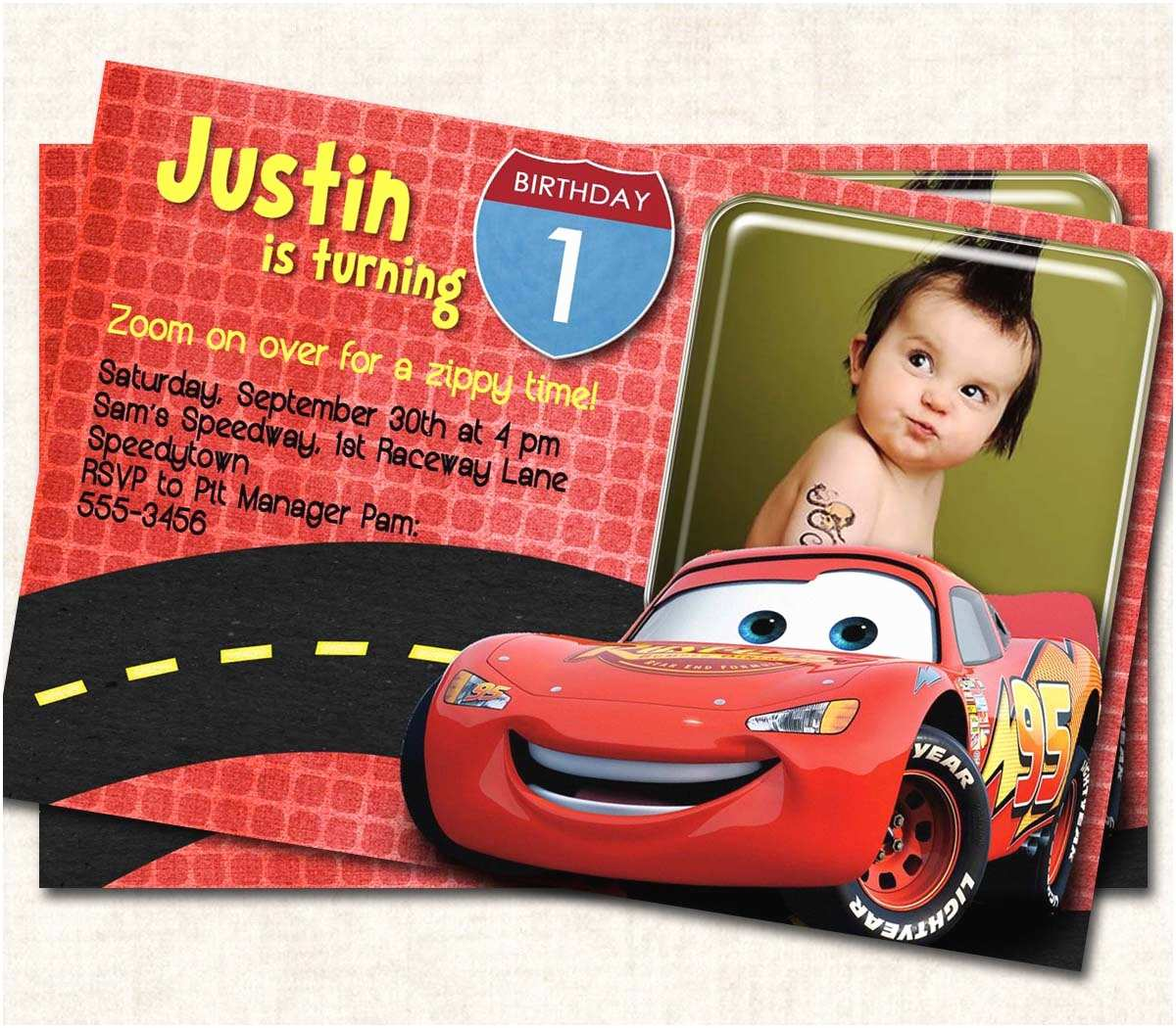 Cars Birthday Invitations Cars Birthday Party Invitation By Missbellaexpressions On