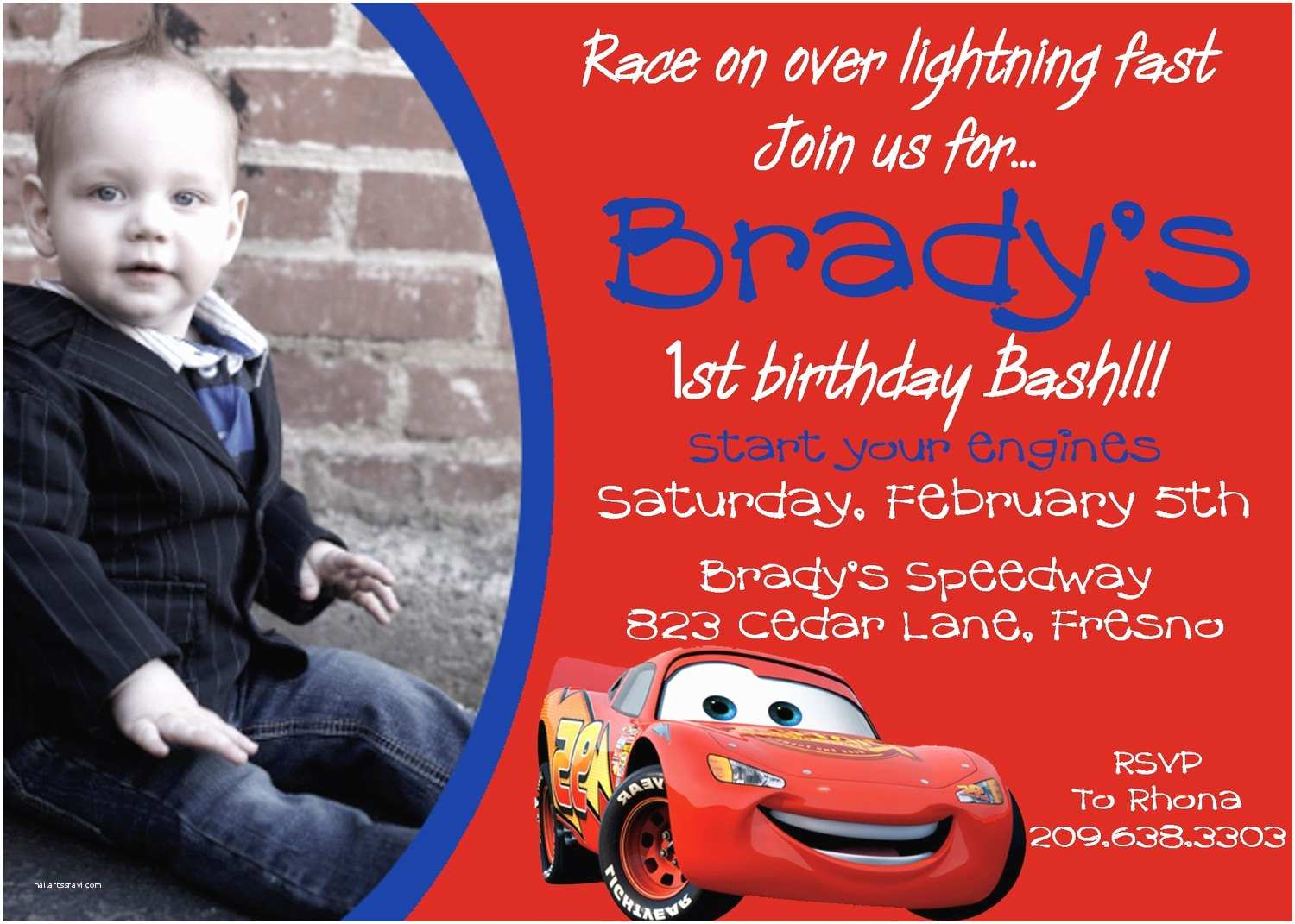 Cars Birthday Invitations Disney Invitation By Darlingdesignsbysara