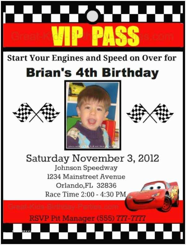 Cars Birthday Invitations Disney Cars Birthday