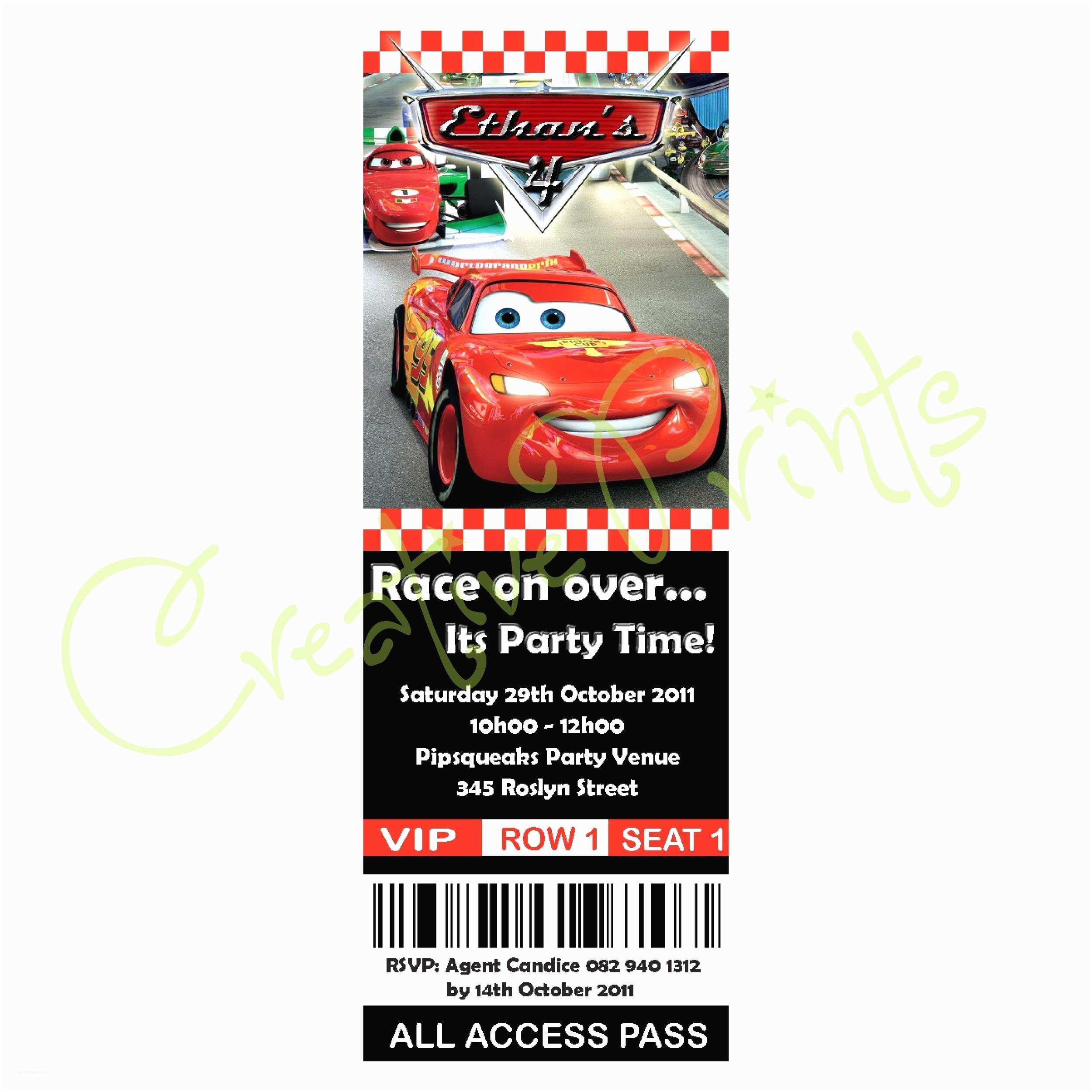 Cars Birthday Invitations Disney Pixar Cars Birthday Cards Best Race Car Birthday