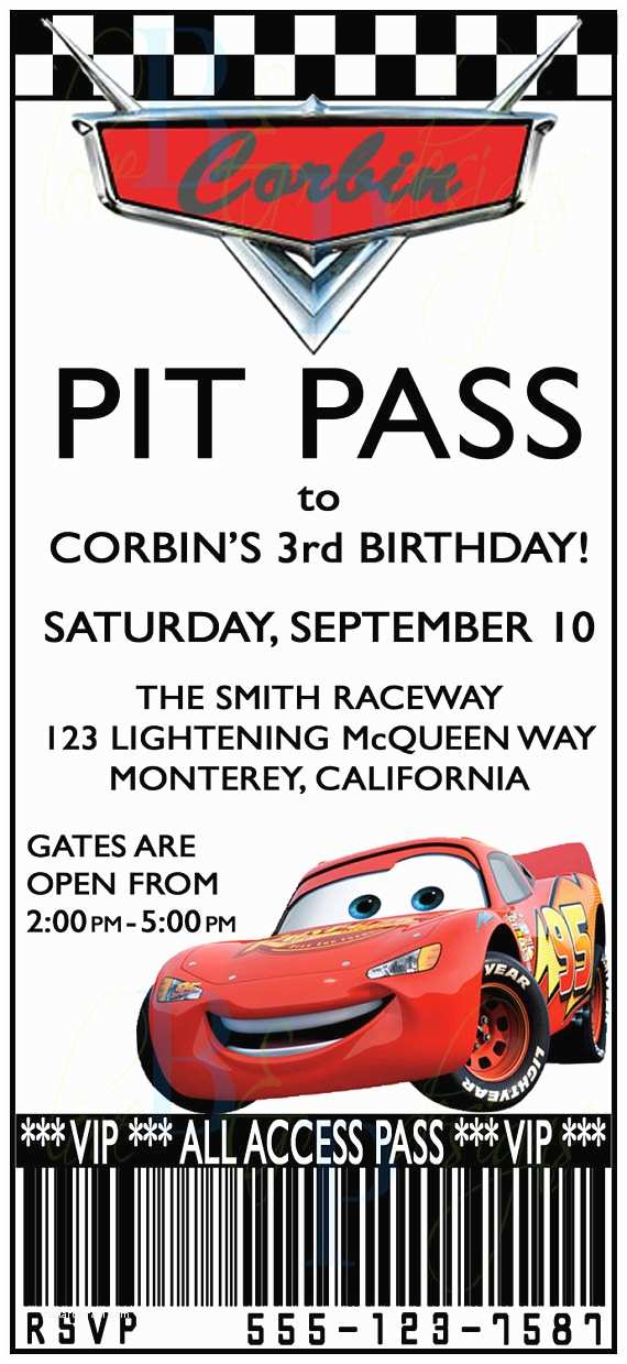 Cars Birthday Invitations Etsy Your Place To And Sell All Things