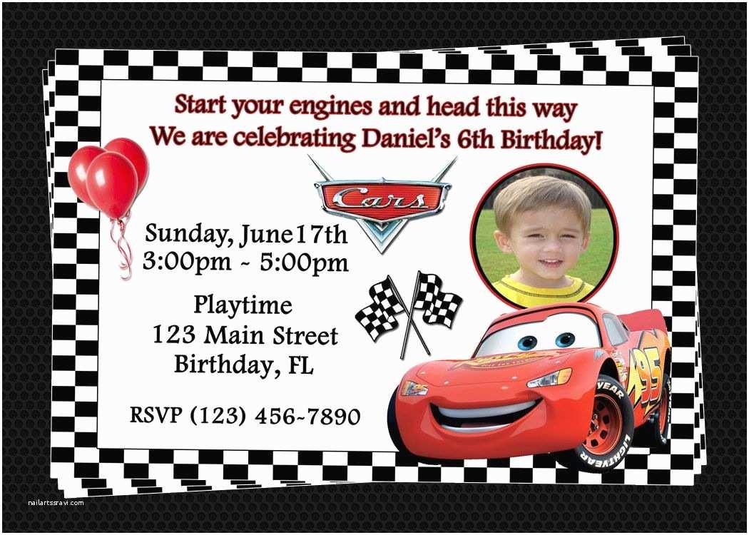 Cars Birthday Invitations Free Printable Birthday Invitations Cars Disney
