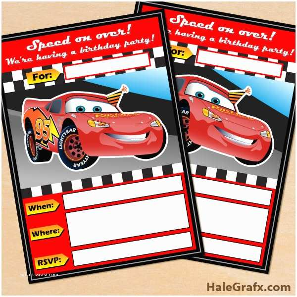 Cars  Invitations Free Printable Disney Cars Lightning Mcqueen