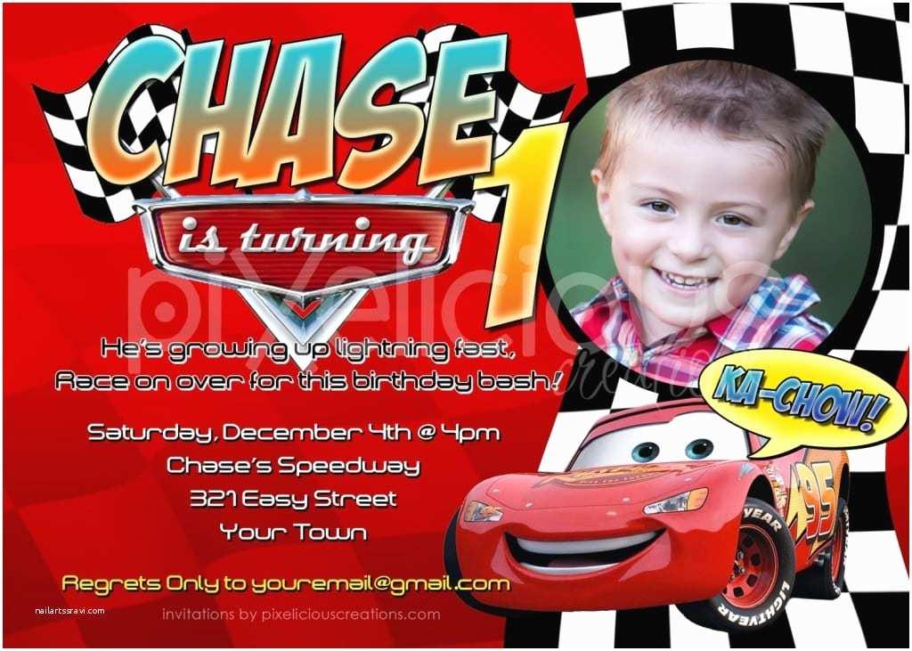 Cars Birthday Invitations Invitation Card Cars