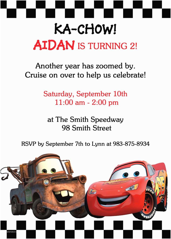 Cars Birthday Invitations Items Similar To Inspired Cars 2 Invitation
