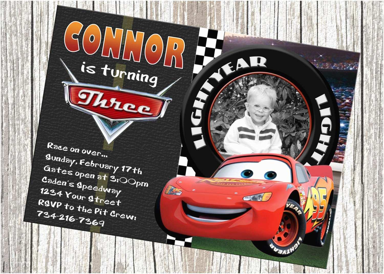 Cars Birthday Invitations Lightning Mcqueen Disney Cars Birthday by Mommybrain2designs