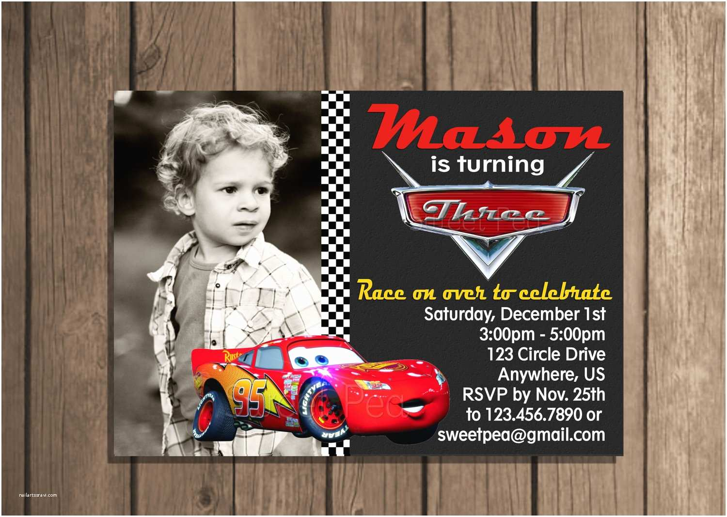 Cars  Invitations Sale Disney Cars Lightning Mcqueen Any Age