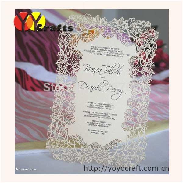 Carte Blanche Design Wedding Invitations Menu Carte Pour Le Mariage Laser Cut Card Tableau Pour