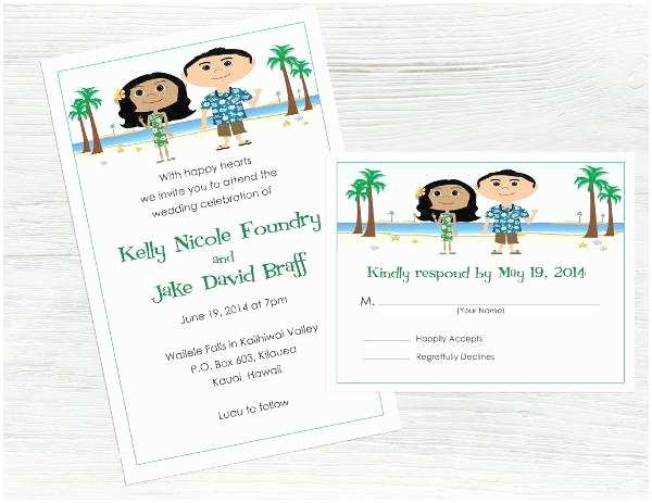 Cartoon Wedding Invitations Online 15 Beach Wedding Invitations Printable Psd Ai Vector