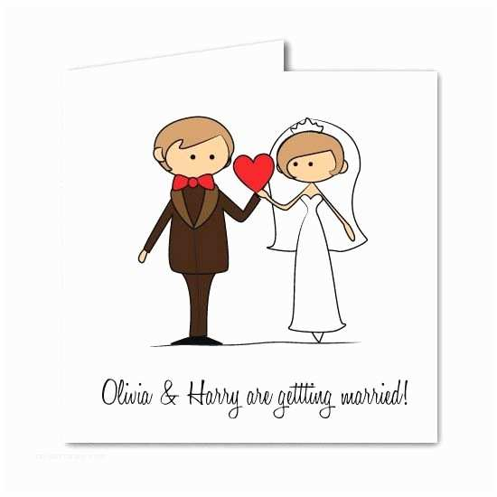 Cartoon Wedding Invitations Online Cartoon Bride & Groom Wedding Invitation