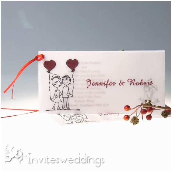 Cartoon Wedding Invitations Online Cartoon Ribbon Layered Wedding Invitations Iwgy008
