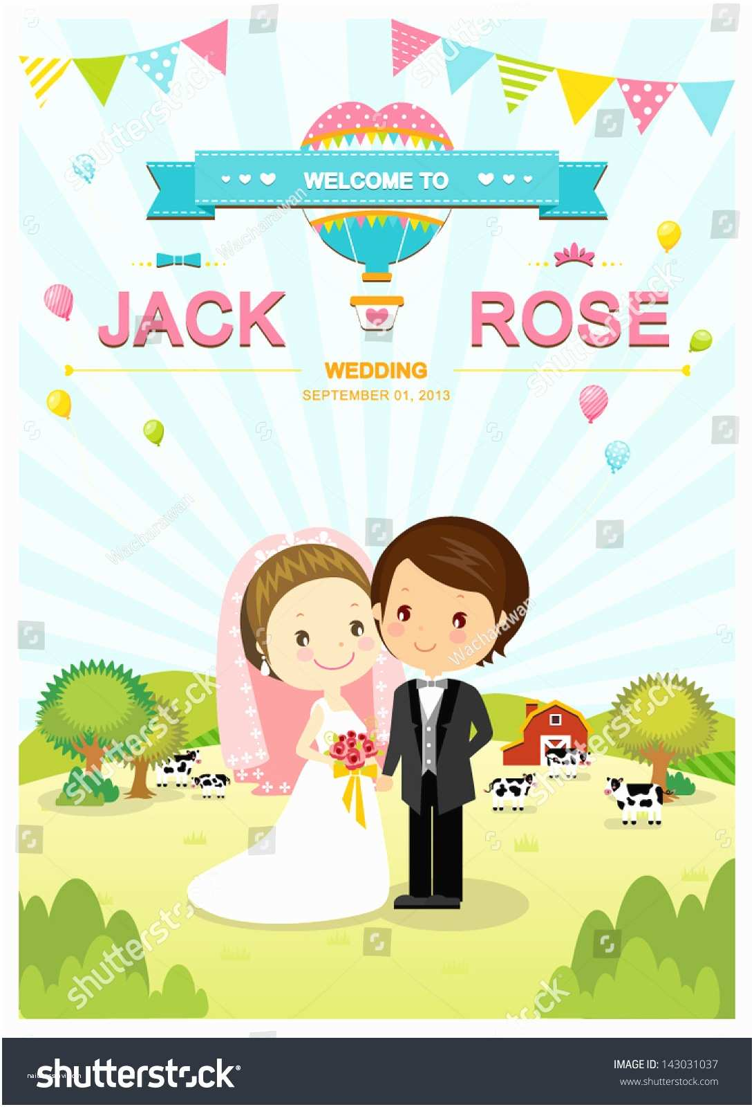 Cartoon Wedding Invitations Online Cute Farm Barn and Cow Wedding Invitation Card Template