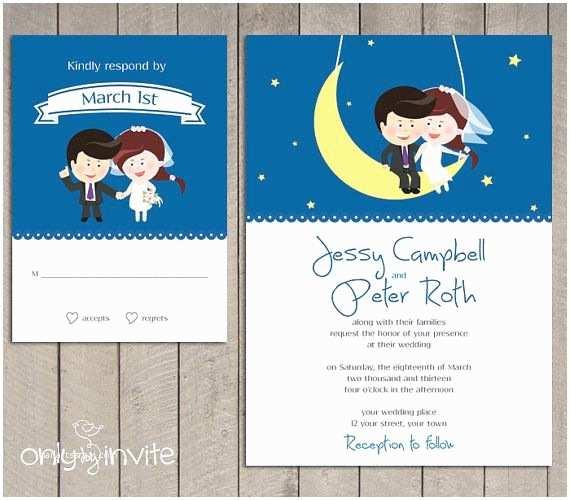 Cartoon Wedding Invitations Online Funny Wedding Invitation Sets