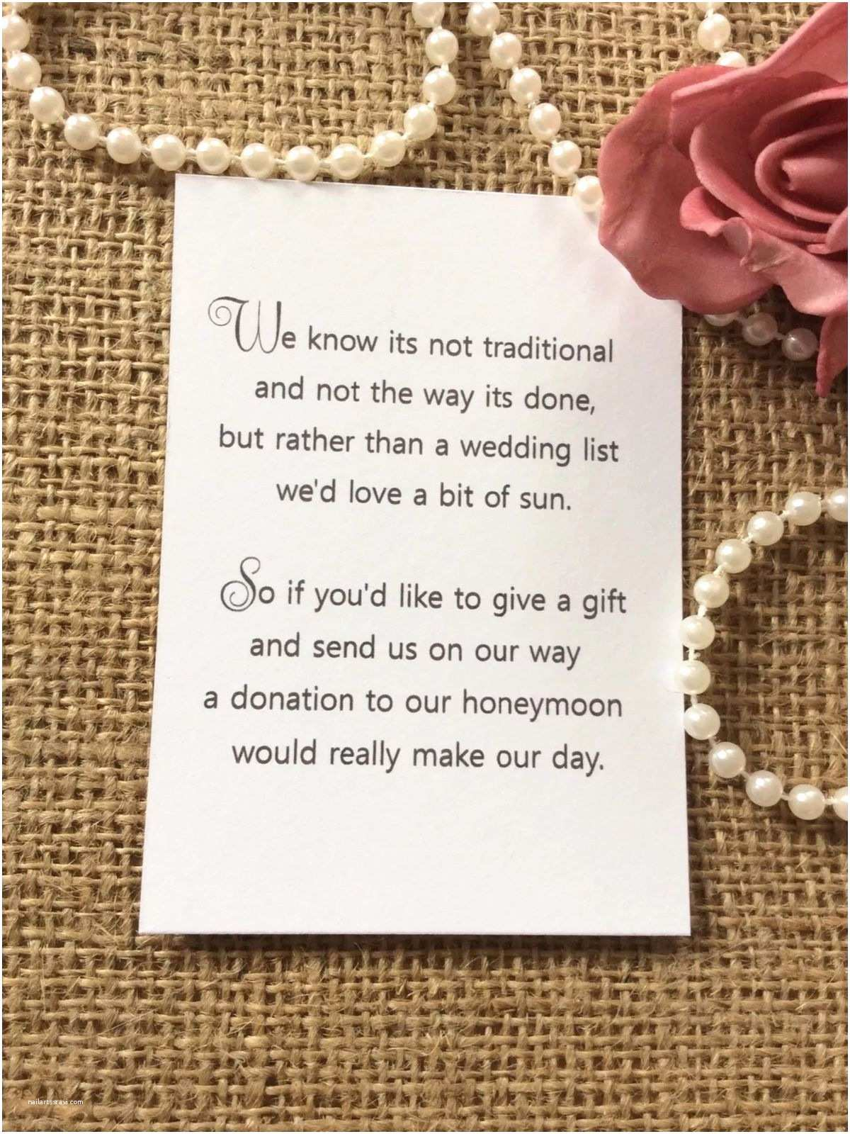 Cash Preferred Wedding Invitation 25 50 Wedding Gift Money Poem Small Cards asking for