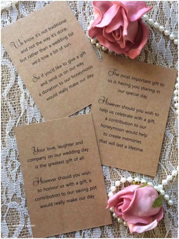 Cash Preferred Wedding Invitation Best 25 Wedding T Poem Ideas On Pinterest