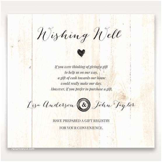 Cash Preferred Wedding Invitation Naturally Rustic Invitation