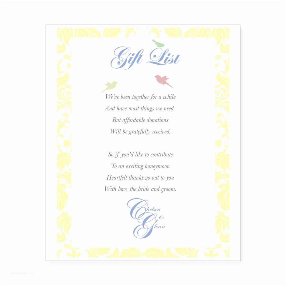 Cash Preferred Wedding Invitation Wedding Etiquette Monetary Gifts Preferred Gift Ftempo