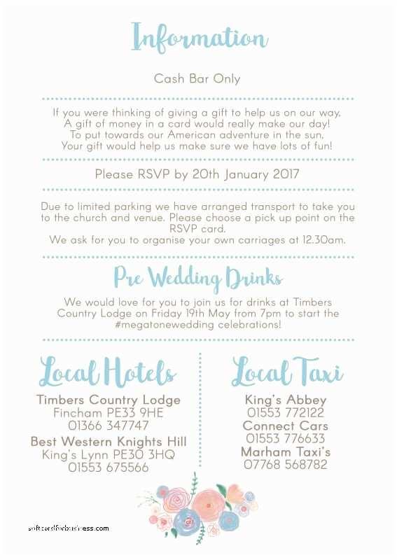 Cash Preferred Wedding Invitation Wedding Invitation Awesome Cash Bar Wording Wedding