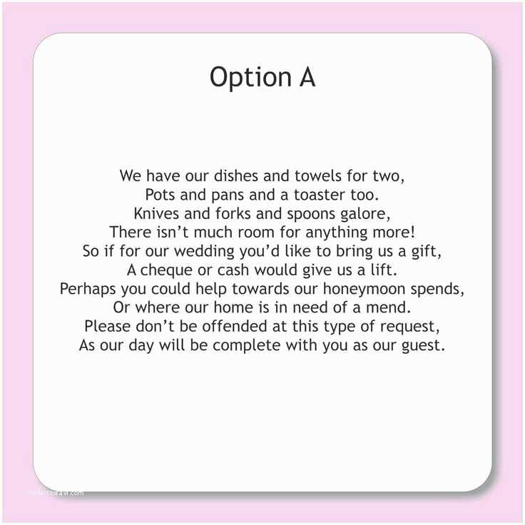Cash Preferred Wedding Invitation Wording for Wedding Invitations asking for Money Google