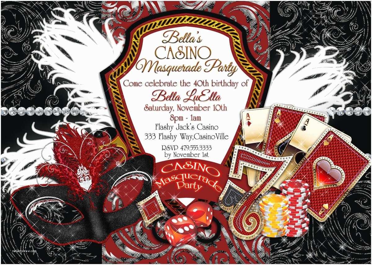 Casino Party Invitations Casino Birthday Invitations