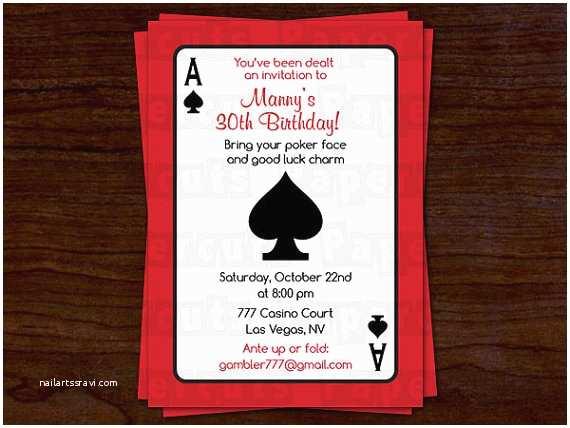 Casino Party Invitations Casino Birthday Party Invitations Ideas – Bagvania Free