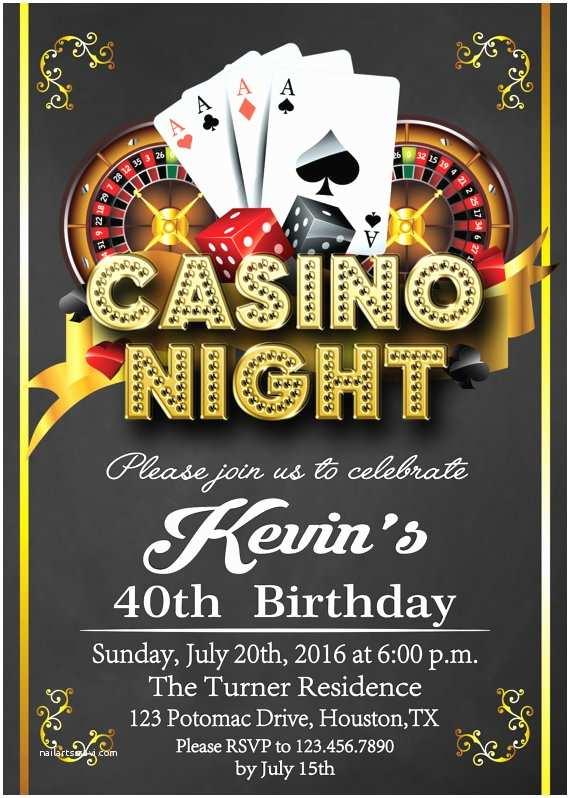 Casino Party Invitations Casino Invitation Casino Party Invitations Casino by