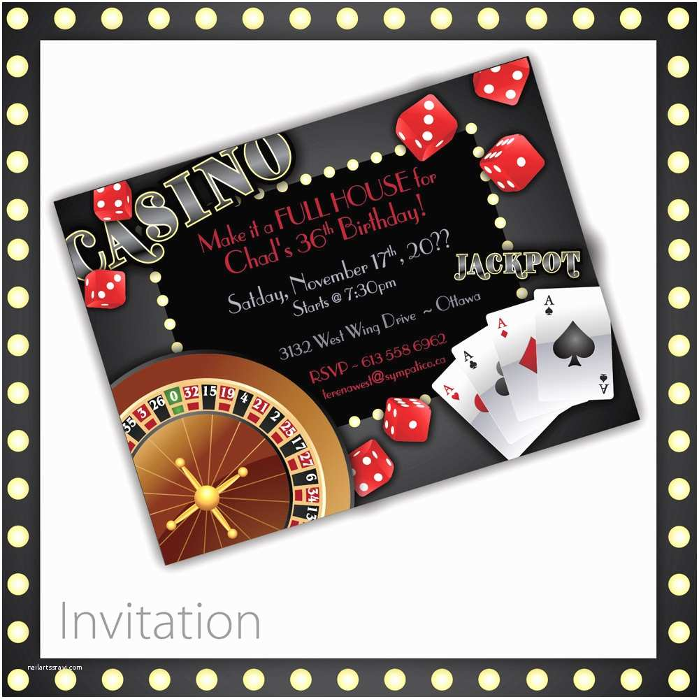 Casino Party Invitations Casino Invitations Casino Night Casino Birthday