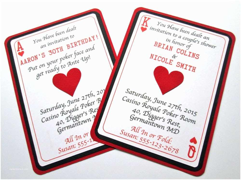 Casino Party Invitations Casino Invitations Casino Party Casino Birthday Invitations