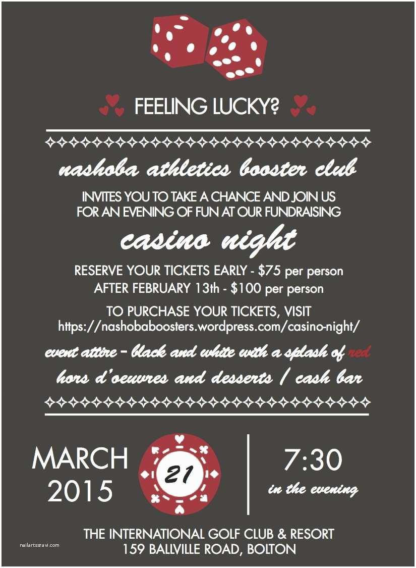 Casino Party Invitations Casino Night