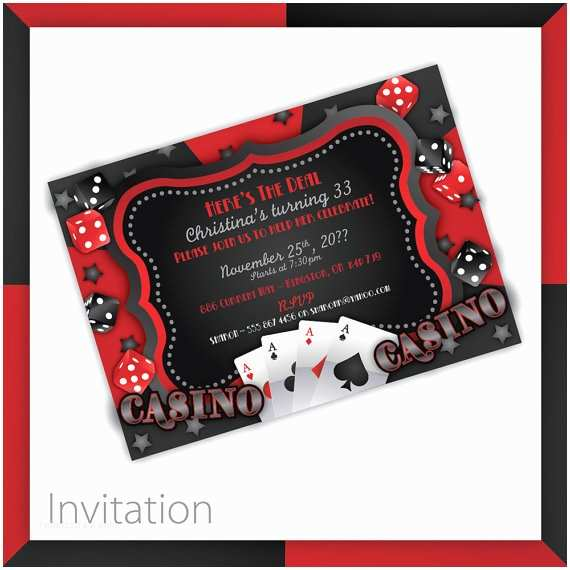 Casino Party Invitations Casino Party Invitations Casino Wow by Blackcherryprintable