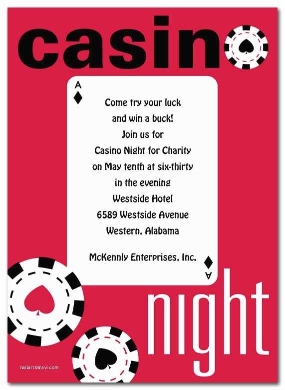 Casino Party Invitations Casino Party Invitations – Gangcraft