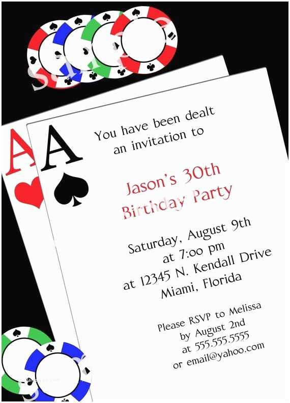 Casino Party Invitations Casino Party Invitations