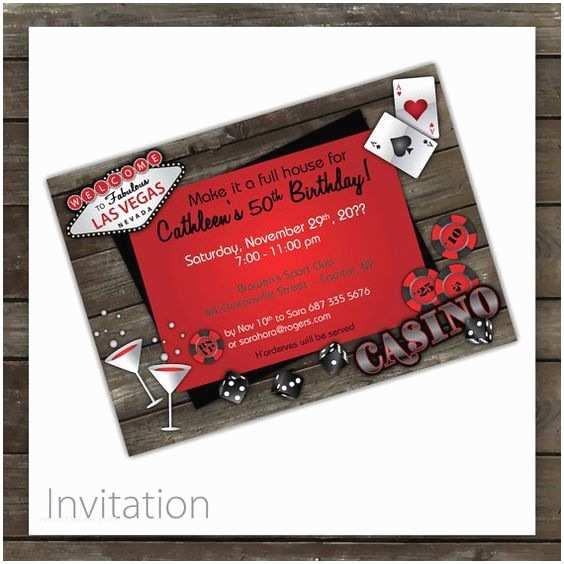 Casino Party Invitations Casino Party Invitations Rustic Casino by