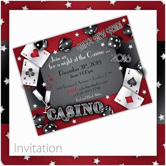Casino Party Invitations New Years Party Invitations Casino New by