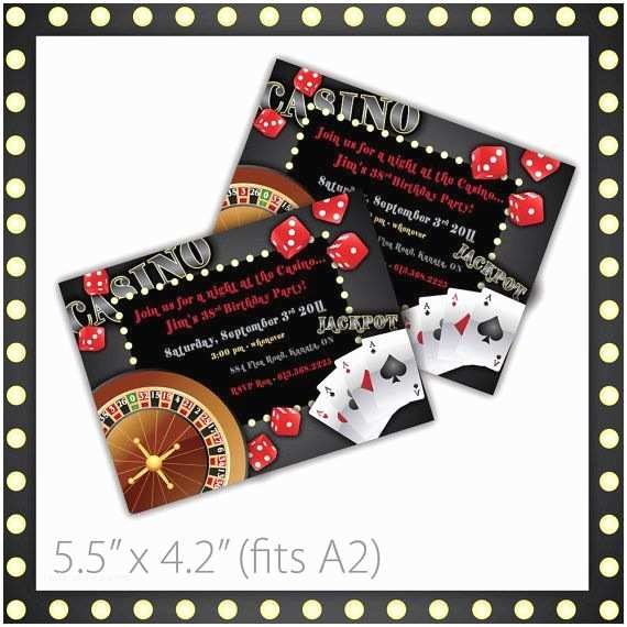 Casino Party Invitations Pin by Leah Yam On Luck Be A Lady Casino Party