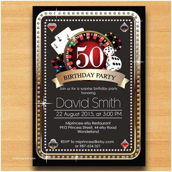 Casino Party Invitations Surprise Casino Invitation – orderecigsjuicefo