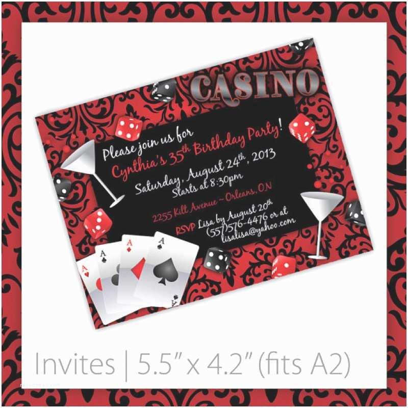Casino themed Wedding Invitations Blank Casino Party Invitation Template – orderecigsjuicefo